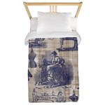 Vintage Sewing Toile Twin Duvet