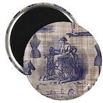 Vintage Sewing Toile Magnet
