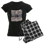 Vintage Sewing Toile Women's Dark Pajamas