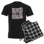 Vintage Sewing Toile Men's Dark Pajamas