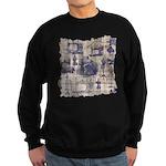Vintage Sewing Toile Sweatshirt (dark)