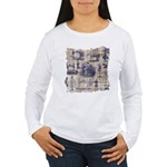 Vintage Sewing Toile Women's Long Sleeve T-Shirt