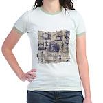 Vintage Sewing Toile Jr. Ringer T-Shirt