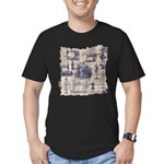 Vintage Sewing Toile Men's Fitted T-Shirt (dark)