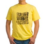 Vintage Sewing Toile Yellow T-Shirt