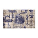 Vintage Sewing Toile Car Magnet 20 x 12