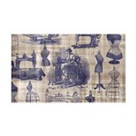Vintage Sewing Toile 35x21 Wall Decal