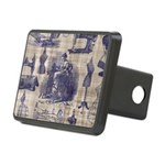 Vintage Sewing Toile Rectangular Hitch Cover