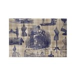 Vintage Sewing Toile Rectangle Magnet (10 pack)