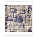 Vintage Sewing Toile Small Poster