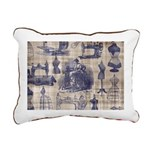 Vintage Sewing Toile Rectangular Canvas Pillow