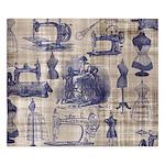 Vintage Sewing Toile King Duvet