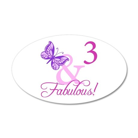 Fabulous 3rd Birthday For Girls 20x12 Oval Wall De