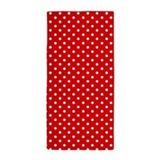 Red and white polka dot Beach Towel