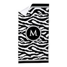 Monogrammed Zebra Beach Towel
