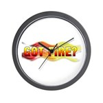 Got Fire? Wall Clock