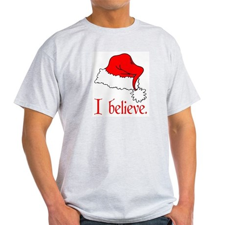 I Believe in Santa Ash Grey T-Shirt