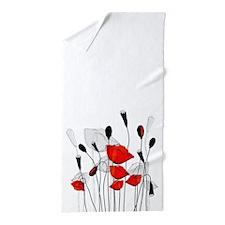Whimsical Poppies Beach Towel