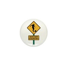 Soccer Country Road Sign Mini Button (10 pack)