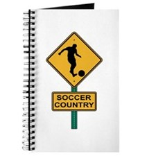 Soccer Country Road Sign Journal