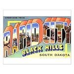 Rapid City South Dakota Greetings Small Poster