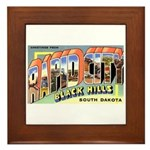 Rapid City South Dakota Greetings Framed Tile