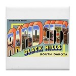 Rapid City South Dakota Greetings Tile Coaster