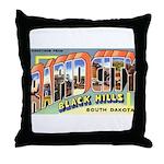 Rapid City South Dakota Greetings Throw Pillow