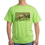Rapid City South Dakota Greetings Green T-Shirt