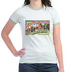 Rapid City South Dakota (Front) Jr. Ringer T-Shirt