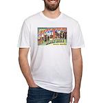 Rapid City South Dakota Greetings Fitted T-Shirt