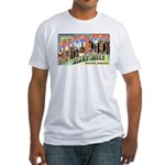Rapid City South Dakota (Front) Fitted T-Shirt