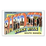 Rapid City South Dakota Greetings Sticker (Rectang