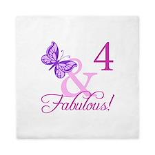 Fabulous 4th Birthday For Girls Queen Duvet