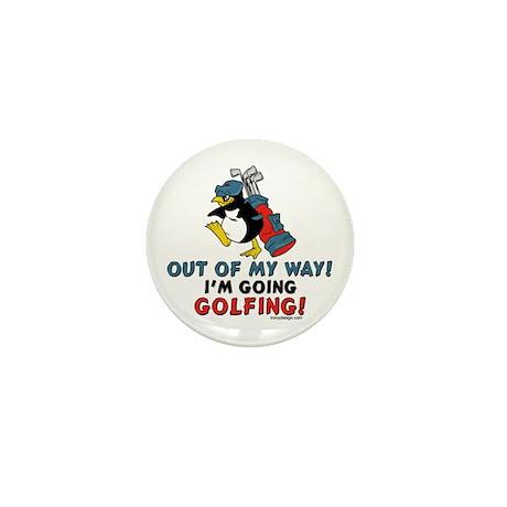 Golfing Penguin Mini Button