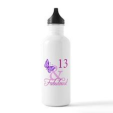 Fabulous 13th Birthday For Girls Water Bottle