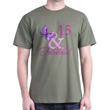Fabulous 15th Birthday For Girls T-Shirt