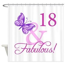 Fabulous 18th Birthday For Girls Shower Curtain