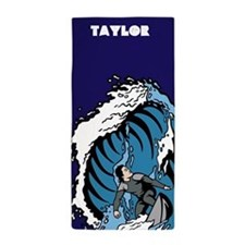 Personalized Surfing Guy Beach Towel