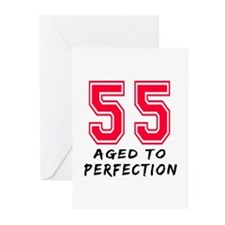 55 Year birthday designs Greeting Cards (Pk of 10)