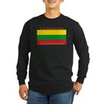 Lithuania Lithuanian Flag Long Sleeve Black Shirt