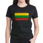 Lithuania Lithuanian Flag Women's Black T-Shirt
