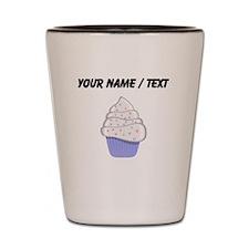 Custom White and Purple Cupcake Shot Glass