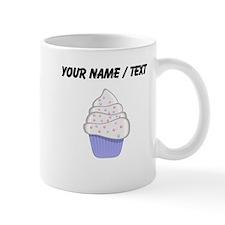 Custom White and Purple Cupcake Small Mug