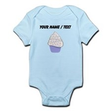 Custom White and Purple Cupcake Body Suit