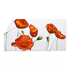 Poppies (orange) Beach Towel