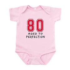 80 Year birthday designs Infant Bodysuit
