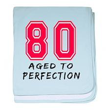 80 Year birthday designs baby blanket