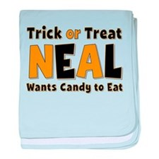 Neal Trick or Treat baby blanket