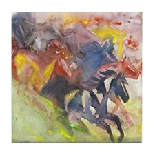 abstract herd Tile Coaster